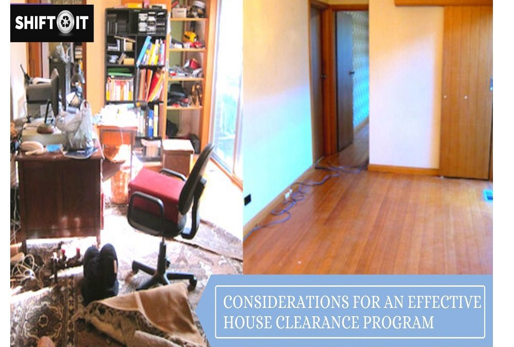 Considerations for an Effective House Clearance Program